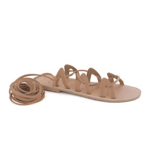 GREEK LEATHER SANDALS 'ANDROMEDA' Natural